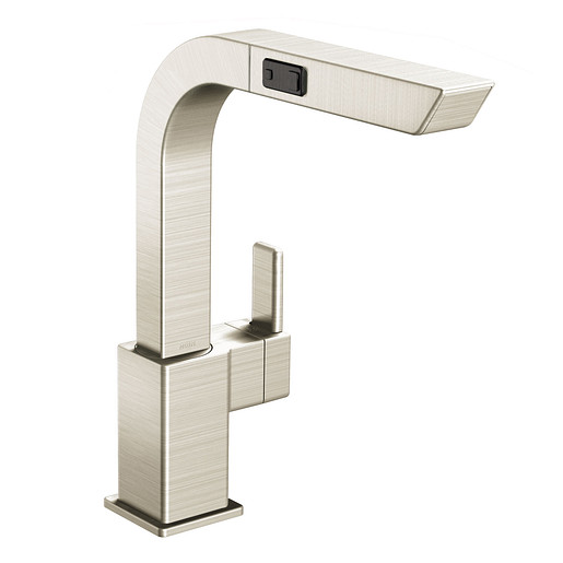 90 Degree Classic stainless one-handle high arc pullout kitchen faucet