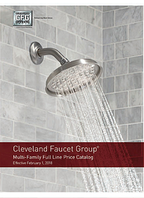 Cleveland Faucet Group Multi-Family Full Line Price Catalog