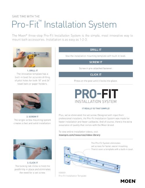 Pro Fit Installation System Pamphlet