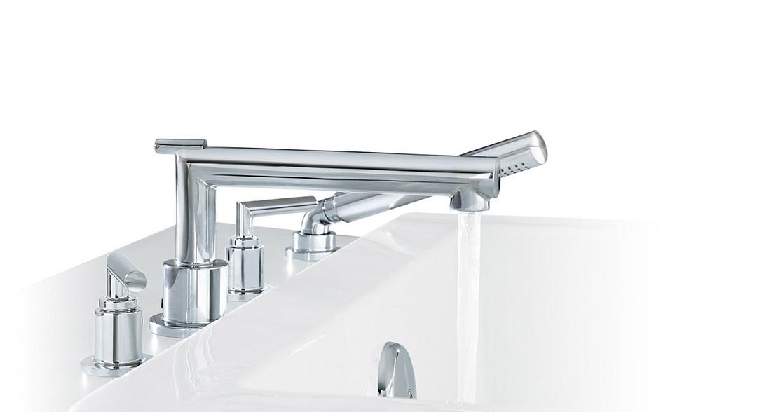 Arris Chrome Two-Handle Low Arc Bathroom Faucet