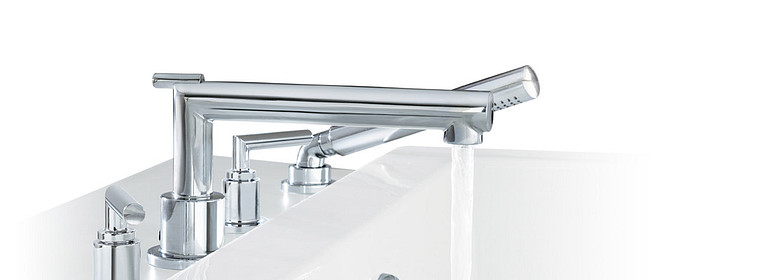 Vòi nước phòng tắm cổ thấp hai cần gạt bằng crôm Arris TS43002