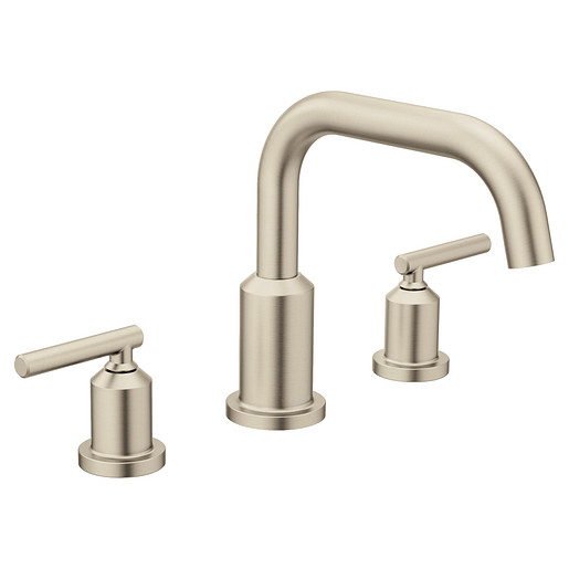 Gibson Brushed nickel Two-Handle Non-Diverter Roman Tub Faucet