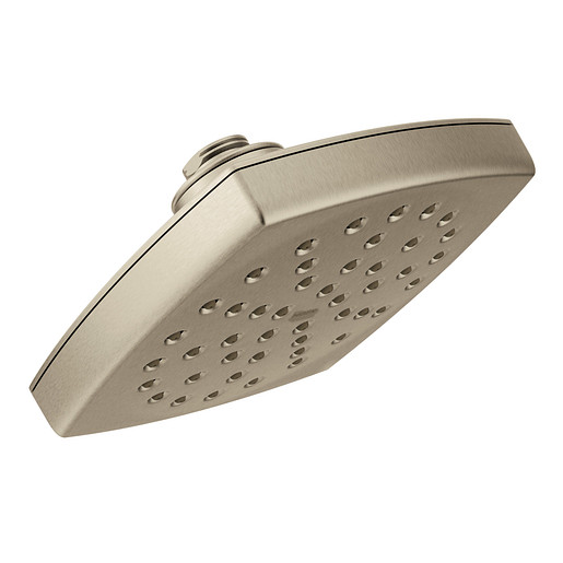 "Moen Brushed Nickel One-Function 6"" Diameter Spray Head Eco-Performance Rainshower"