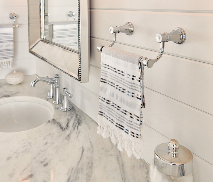 Featuring the Belfield Chrome Hand Towel Bar