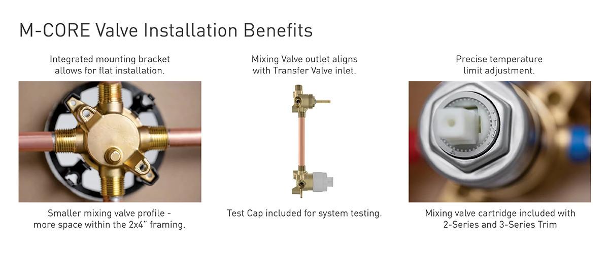 Moen M-CORE Installation Benefits