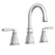Hilliard Chrome Two-Handle High Arc Bathroom Faucet