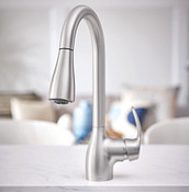Kleo Spot Resist Stainless One-Handle High Arc Pulldown Kitchen Faucet CA87011SRS