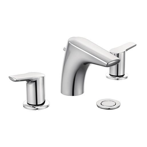 Method Chrome Two-Handle Low Arc Bathroom Faucet