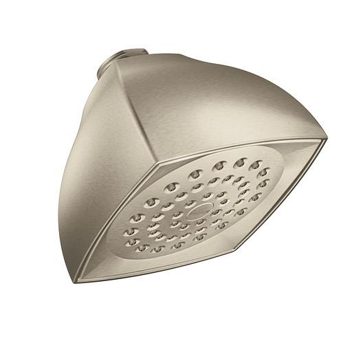 """Moen Brushed Nickel One-Function 4 1/16"""" Diameter Spray Head Eco-Performance Showerhead"""