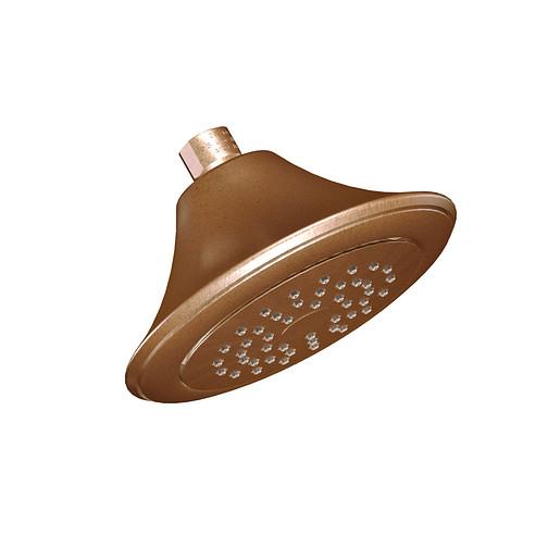 "Moen Antique bronze one-function 6-1/2"" diameter spray head eco-performance showerhead"