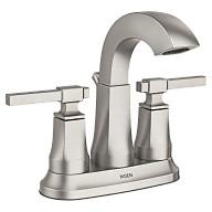 Ayda Spot Resist Brushed Nickel Two-Handle High Arc Bathroom Faucet