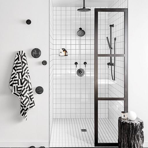 Black and White Shower