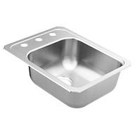 """2000 Series 17""""X21-1/4"""" stainless steel 20 gauge single bowl drop in sink"""