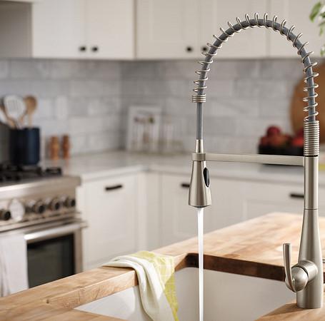 Essie Spot Resist Stainless Kitchen Faucet