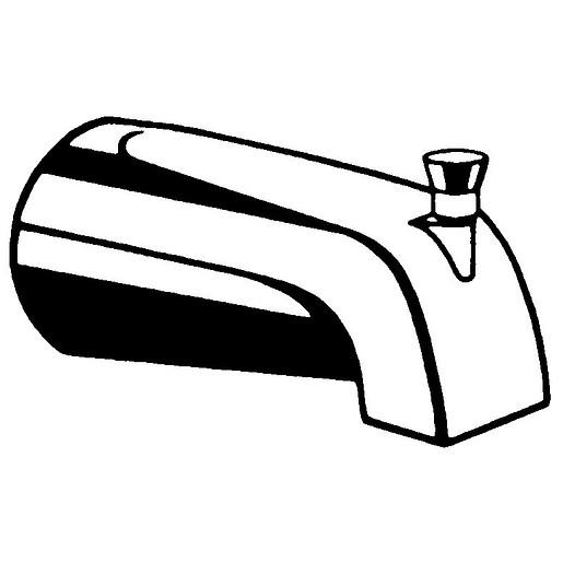 Commercial Diverter Spout, Slip Fit,Vandal-Resistant
