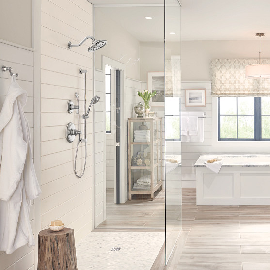 eco-performance showerheads feature a flow rate of 1.5 gallons per minute