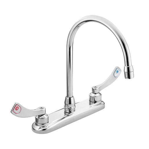 M-DURA Chrome two-handle kitchen faucet