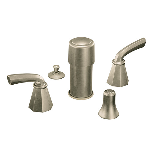 Felicity Brushed nickel two-handle bidet faucet