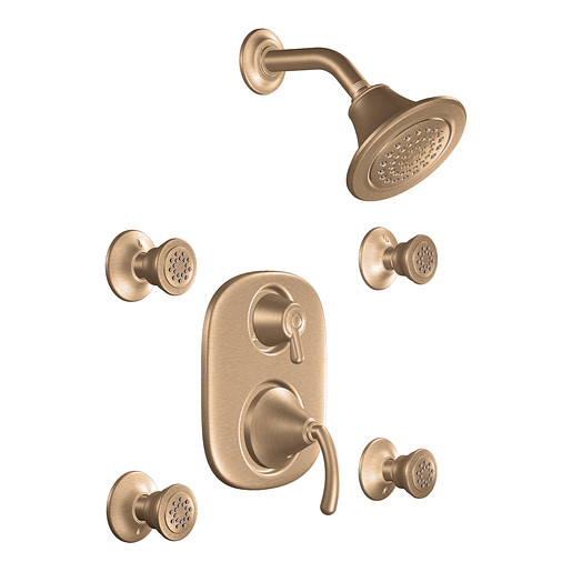 Icon Brushed bronze Moentrol® vertical spa