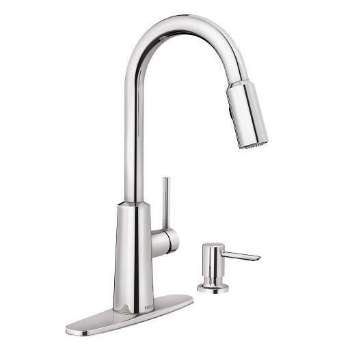 Nori Chrome One-Handle High Arc Pulldown Kitchen Faucet