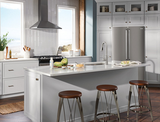 White cabinets work with traditional to cottage to contemporary styles