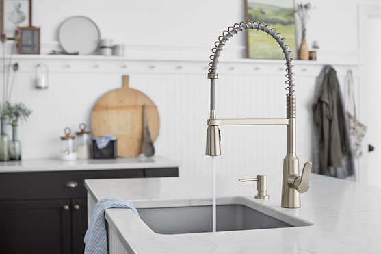 Install an undermount sink with rounded or straight corners