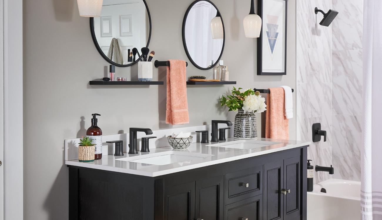 Pièce de robinet pour salle de bains moderne