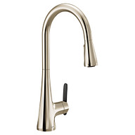 Sinema Polished Nickel One-Handle High Arc Pulldown Kitchen Faucet