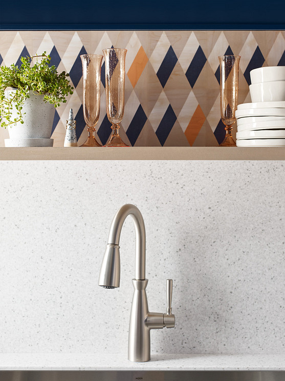Replace your existing faucet with the Surie pulldown kitchen sink faucet