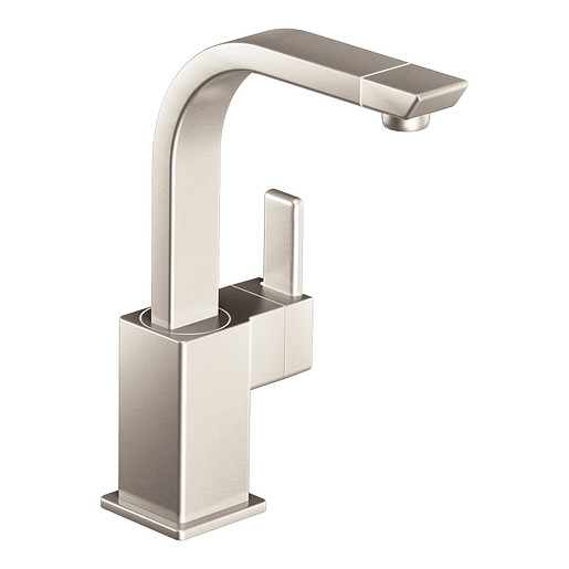 90 Degree Spot resist stainless One-Handle High Arc Bar Faucet