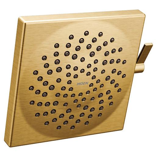 """S6345BG - Moen Brushed Gold Two-Function 8 1/2"""" Diameter Spray Head Rainshower"""