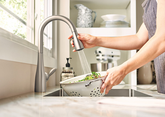 Arbor Spot Resist Stainless One-Handle High Arc Pulldown Kitchen Faucet 7594SRS