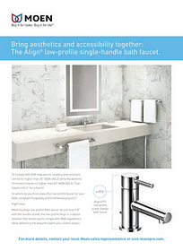 Align® Low-Profile Single-Handle Bath Faucet ADA Specification