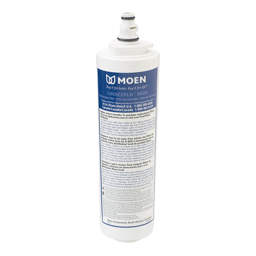 Moen ChoiceFlo 9600 replacement filter for Chateau with ChoiceFlo, Sip, and AquaSuite Series 9600/9602/9500/9502
