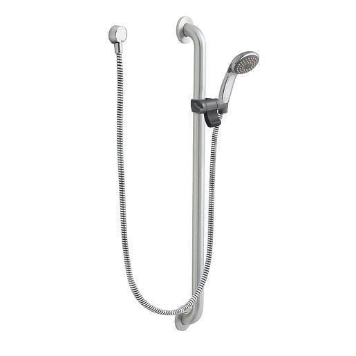 Commercial Chrome/stainless slide bar/grab bar shower