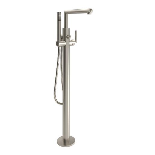 Arris Brushed nickel One-Handle Tub Filler including Handheld Shower