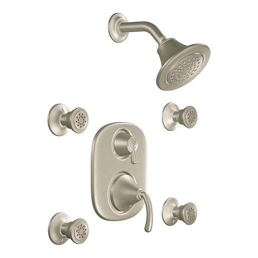 Icon Brushed nickel Moentrol® vertical spa