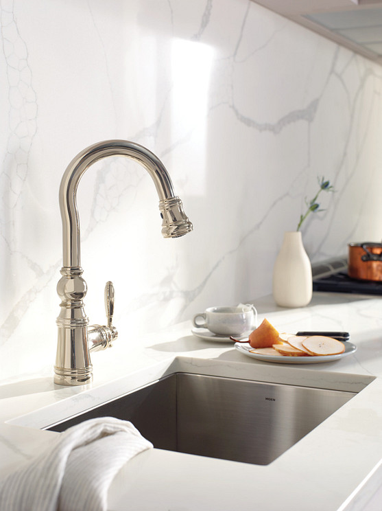 Weymouth Polished Nickel Bar Faucet