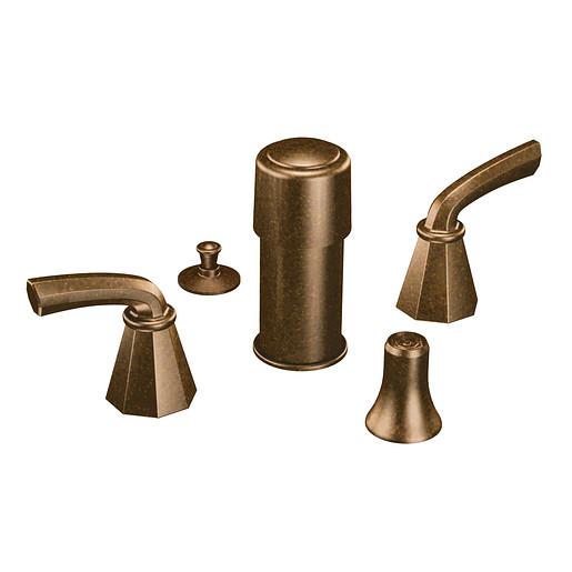 Felicity Oil rubbed bronze two-handle bidet faucet