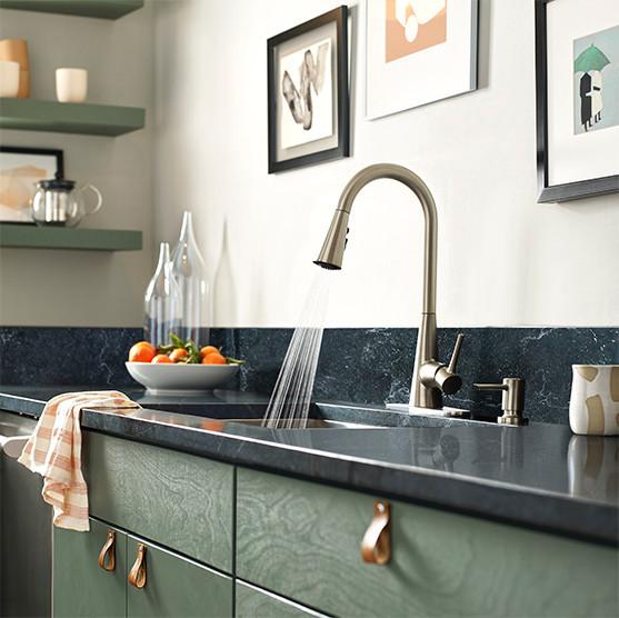 Sarai Spot Resist Stainless Pulldown Kitchen Faucet