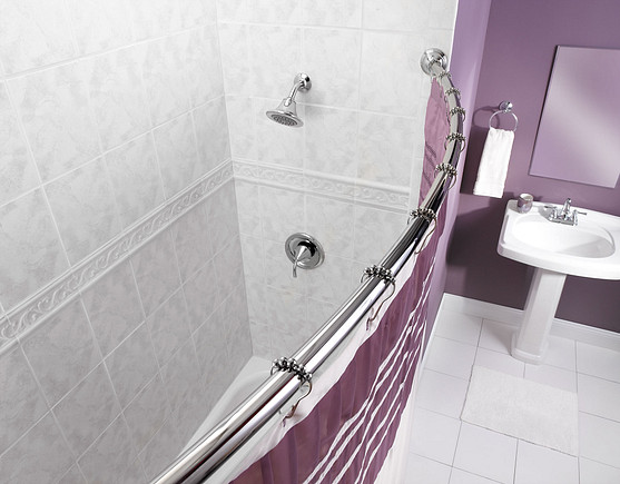 Chrome Curved Shower Rod