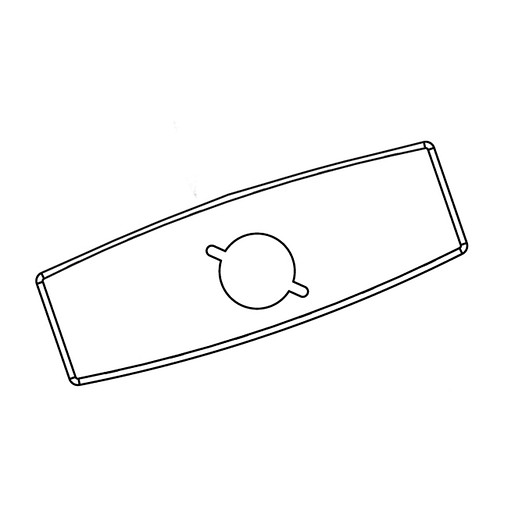 """Commercial 4"""" Deck Plate (With Mounting Kit) For 8302, 8303, 8304"""