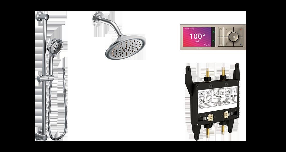Shower Layout Configuration Option 4