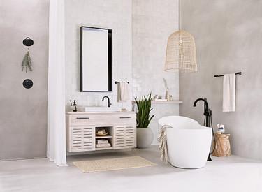 Doux Matte Black One-Handle High Arc Bathroom Faucet