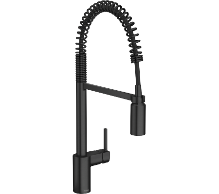 Browse Moen's Matte Black Kitchen Faucets