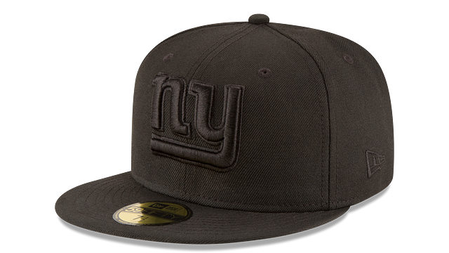 NEW YORK GIANTS BLACK ON BLACK 59FIFTY FITTED