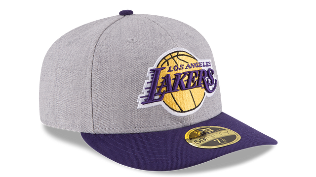 LOS ANGELES LAKERS HEATHER LOW PROFILE 59FIFTY FITTED