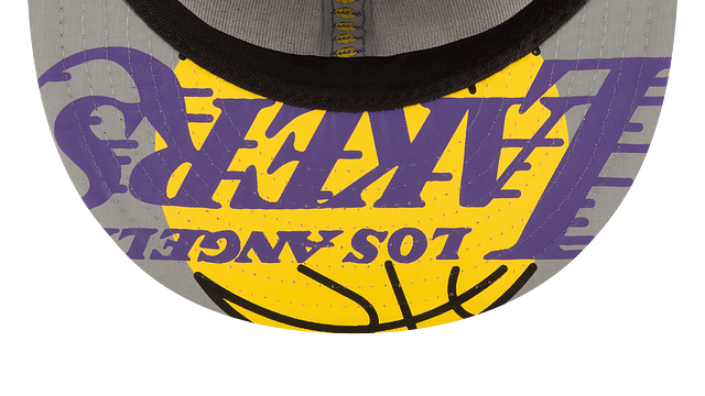 LOS ANGELES LAKERS ON COURT 59FIFTY FITTED