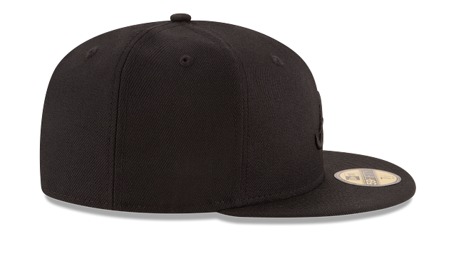 ATLANTA BRAVES BLACK ON BLACK 59FIFTY FITTED