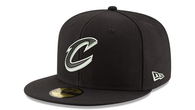 CLEVELAND CAVALIERS BLACK & WHITE 59FIFTY FITTED